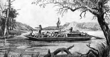 Flatboat on the Sangamon River