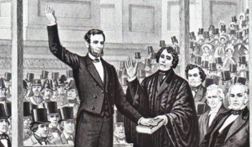 Image result for lincoln inauguration