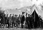 Lincoln visiting Union Troops