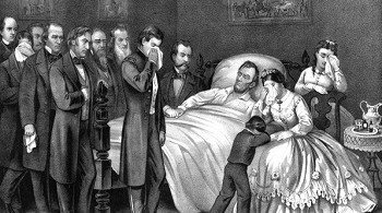 President Lincoln on his death bed