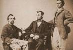 President Lincoln with John Nicolay and John Hay