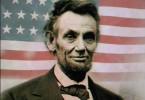 Abraham Lincoln and American flag